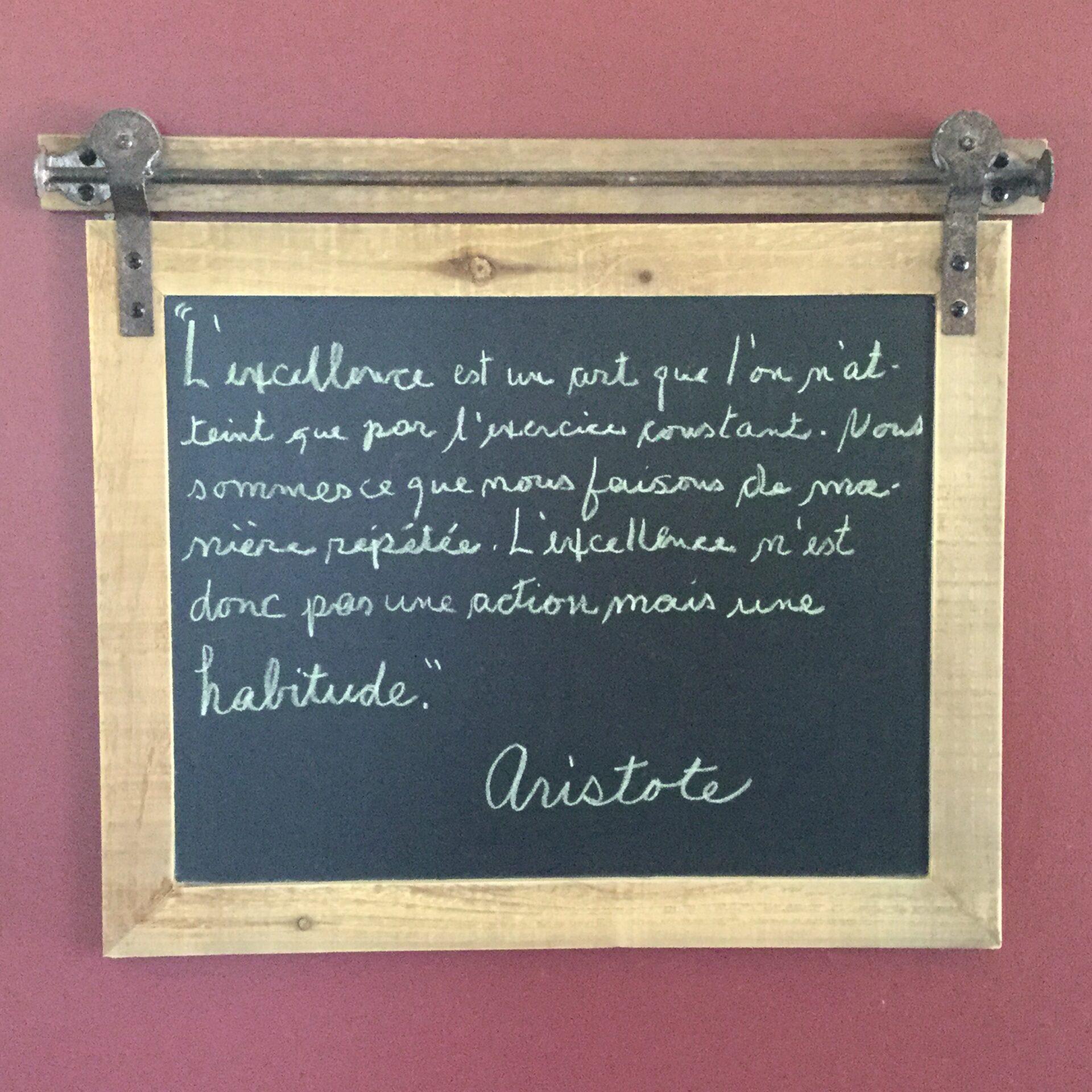 Citation d'Aristote