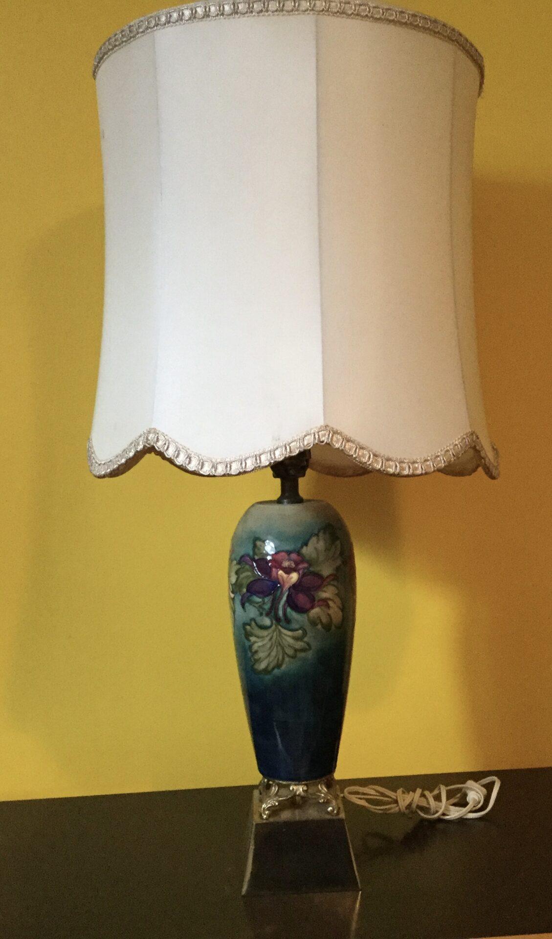 Moorcroft lamp 1950