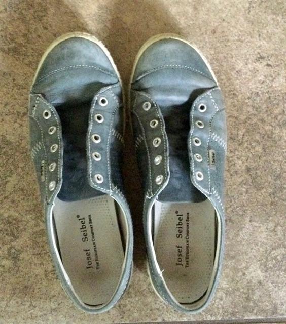 Les souliers de Phrenssynnes avant